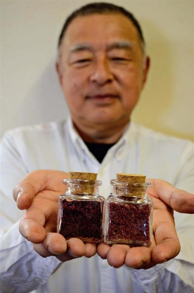 あいざわ農園ブドウ塩開発 CFで費用募集、7月に販売へ