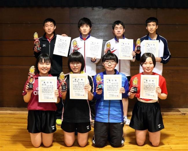高校男子は伊藤V、同女子目黒制す 全十勝春季卓球選手権大会