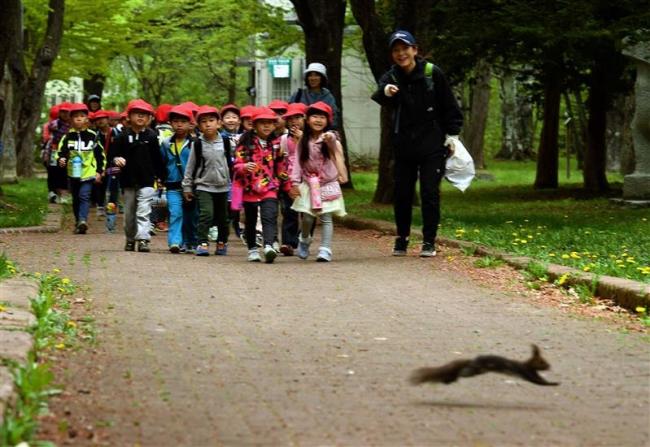 帯広市内小学校 遠足シーズン