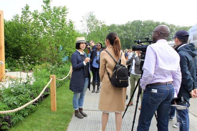 「漢方の庭」を報道陣に公開 チェルシーショー
