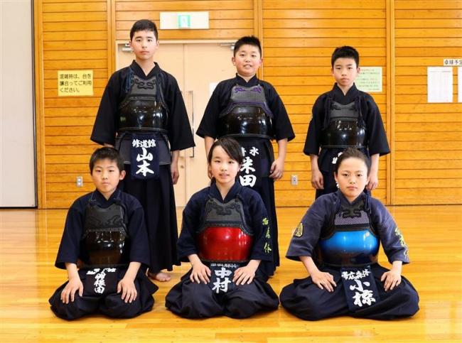 小椋ら6剣士が道大会へ 赤胴少年剣道大会十勝地区選考会