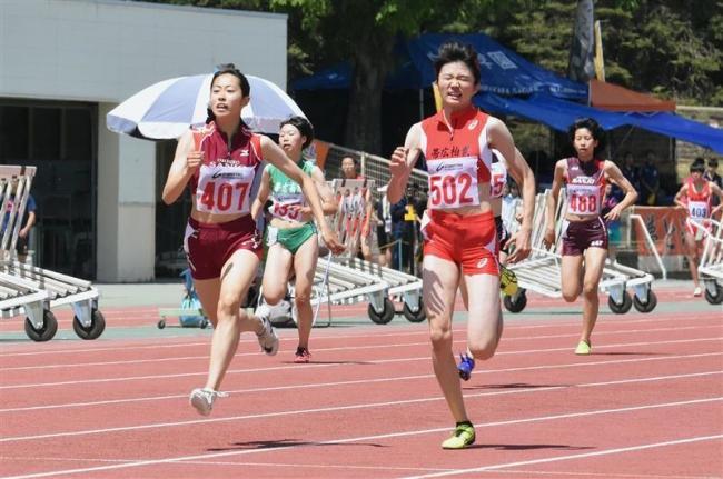 女子200メートル渡邊、小野寺が福島千里の大会記録更新、高体連陸上最終日