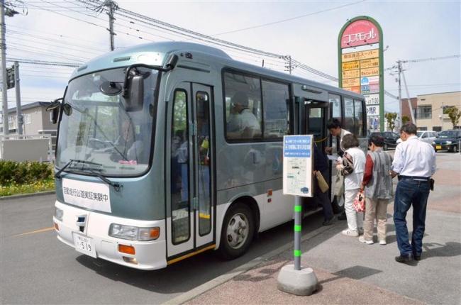 リポートT「自動運転バスに町民期待 大樹で実証実験」