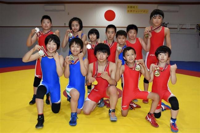 帯広レスリングクラブ北日本大会で好成績 5人優勝など12人3位入賞以上