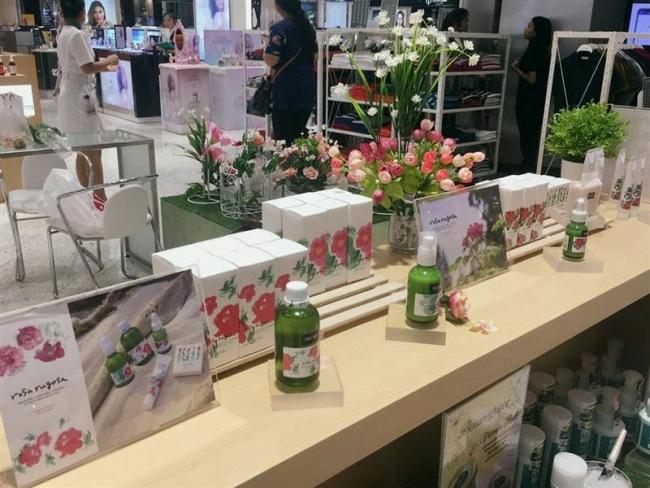 リポートT「浦幌のハマナス化粧品 バンコク伊勢丹で販売」