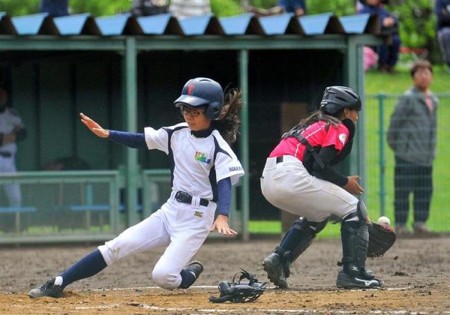スマイルレインボー決勝に進出V3王手 小学生女子野球ガールズトーナメント道予選