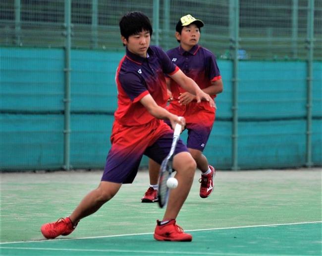 竹市・秋本組、女子は清水川・小林組V 全十勝中体連春季ソフトテニス