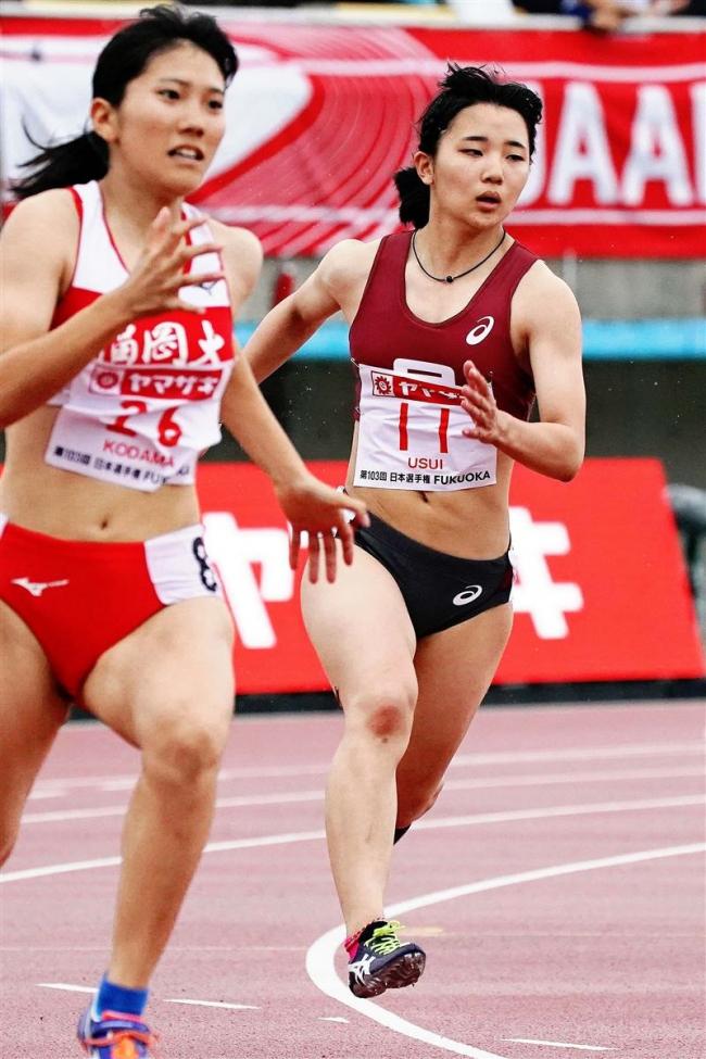 臼井文音は予選敗退、陸上日本選手権女子200メートル