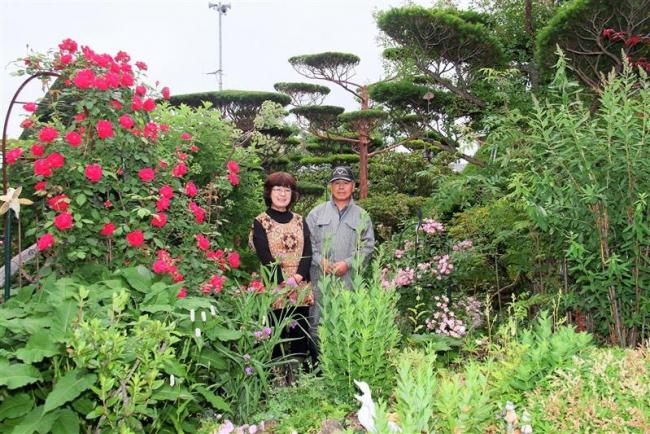 しかおい花フェスタ開幕 個人宅など9カ所をオープンガーデンとして公開