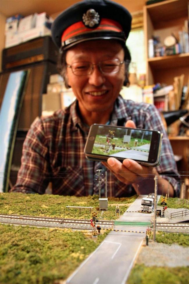 リアルな踏切に世界が注目 清水旧羽帯駅模型動画が視聴1300万回超