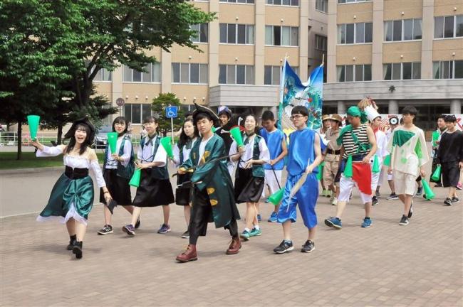 管内高校で学校祭シーズン到来 柏葉は恒例のパレード