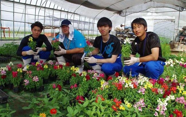 学生が浦幌で民泊体験