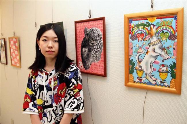 福原記念美術館で加藤さんイラスト展 鹿追