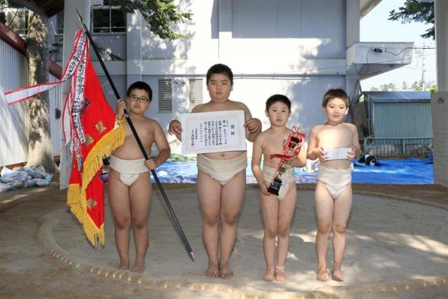 幕別・白人団体優勝 全十勝小学生対校相撲選手権大会