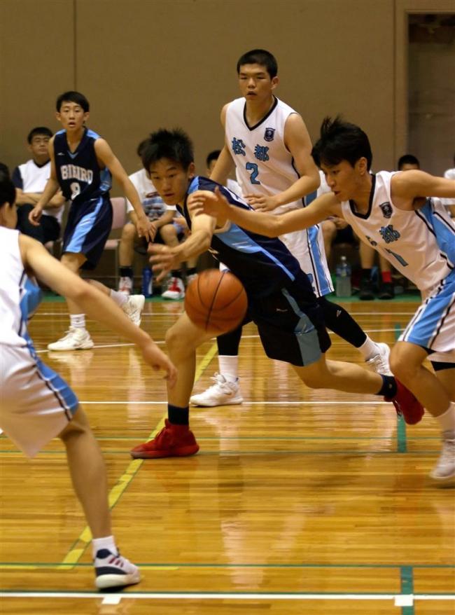 帯広・韓国高校バスケ交歓大会、仁川市の松都高校と十勝の選手が熱戦
