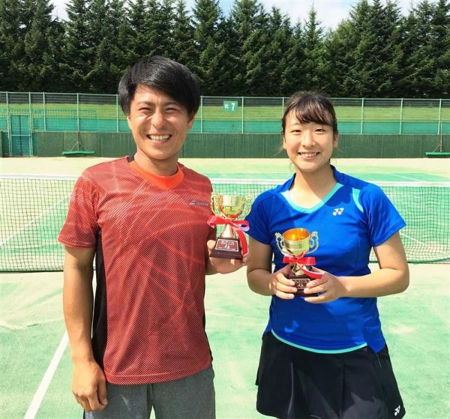 山口男子優勝、女子は辻本V 全十勝B級単テニス