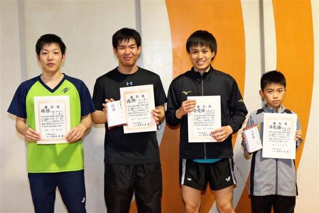 菅野・浅川組、女子の金野・長井組2連覇、全十勝卓球選手権ダブルス