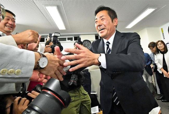 「生活の安心取り戻す」 参戦道選挙区で当確の勝部さん
