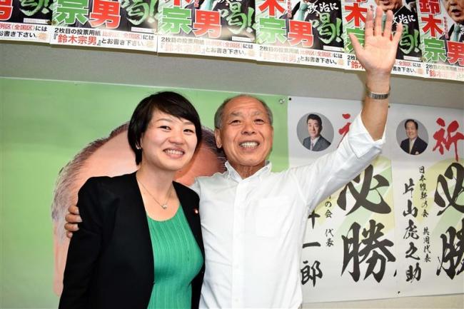 9年ぶりに国政復帰 参院選比例で鈴木宗男氏が当選確実