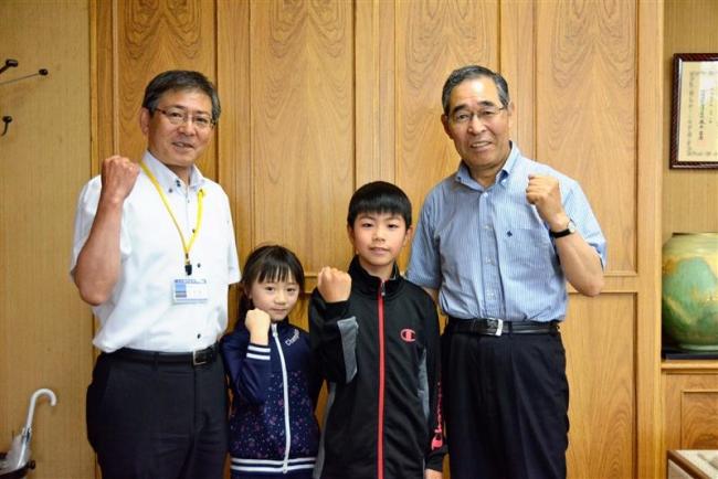 上士幌 小学生2人が卓球全国大会出場報告