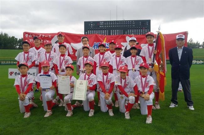 豊成2年連続7度目V、栄が準優勝 財団旗少年野球大会