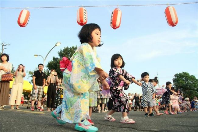 子どもが元気に盆踊り 本別で七夕まつり