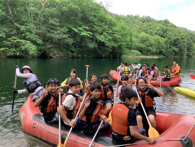 中札内の自然満喫 川越市の中学生が来村し交流