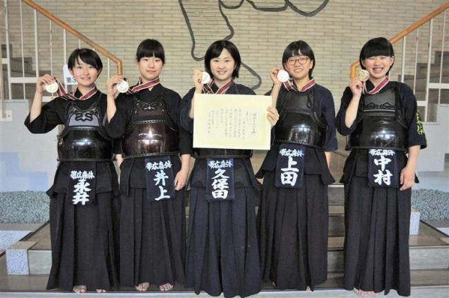 青少年剣道旭川大会、中学女子の部で帯広の森体育館が3位