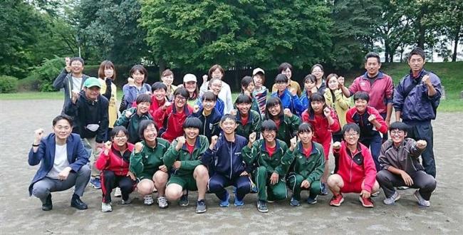 壮行会で意欲新た 全国中体連ソフトボール出場帯八市内合同