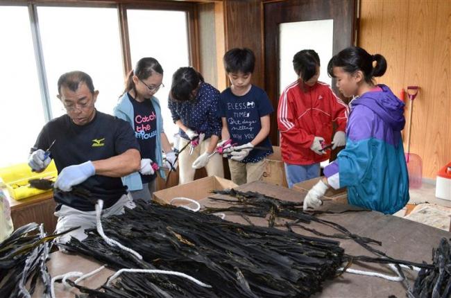 東京の小学生が漁業など体験 広尾