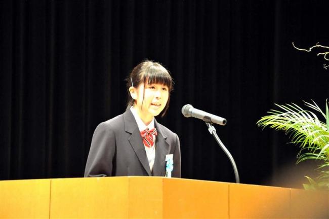 四中の吉田さんが優秀賞 少年の主張全道大会