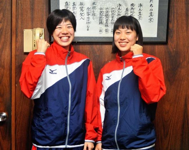 帯大谷高水泳愛好会の蝦名愛梨と藤田彩花 国体水泳に連続出場