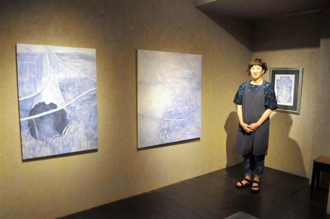 ミントカフェで篠田亜希子さん個展