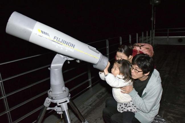 天文台で名月観望会 陸別