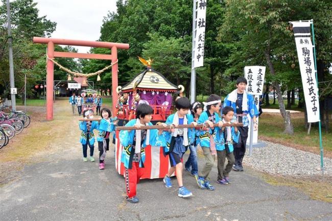 池田の子どもみこし登場 音更・駒場神社秋季祭典