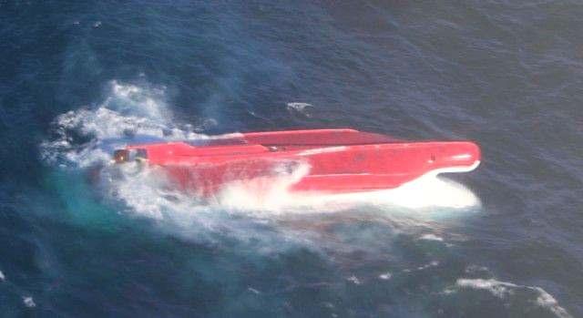 転覆船体を発見 根室沖610キロ 連絡途絶の大樹漁協所属漁船か