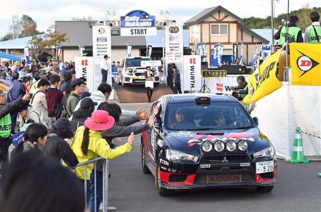 人気選手を間近で応援 ラリー北海道開幕