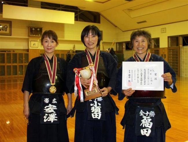 十勝連盟Aが女子50歳以上で5度目のV 道団体優勝剣道大会