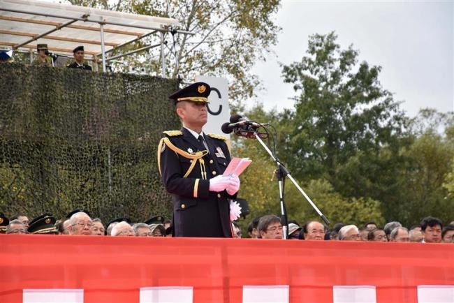 陸自第5旅団 創立15周年記念式典