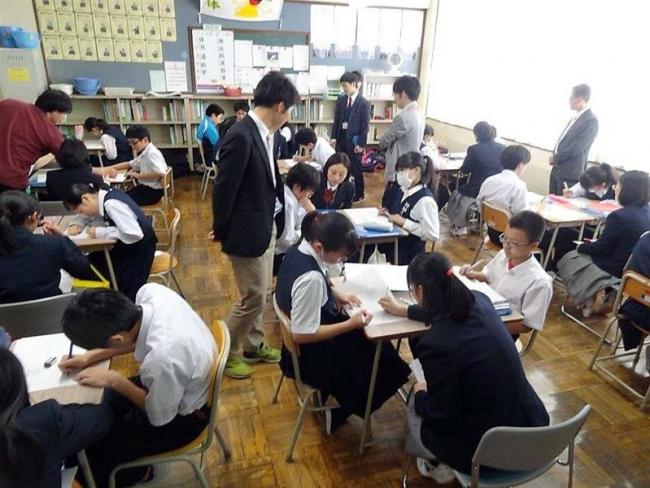 広尾高生が広尾中生に数学指導