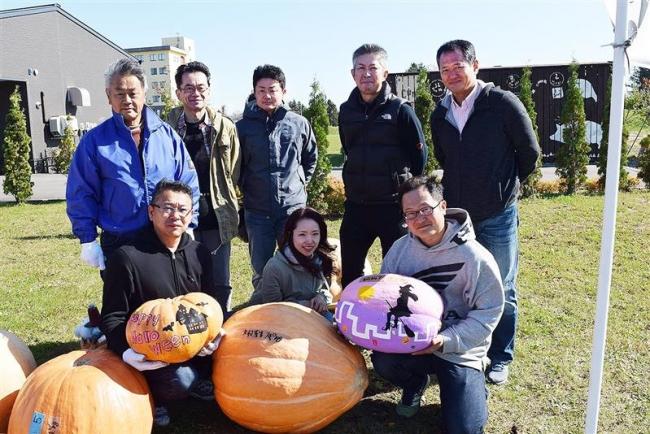 ジャンボかぼちゃ、重量部門小学生は74・5キロ記録 音更
