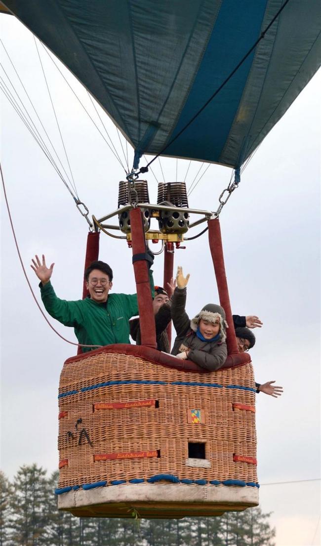 熱気球でまちの魅力体感 上士幌