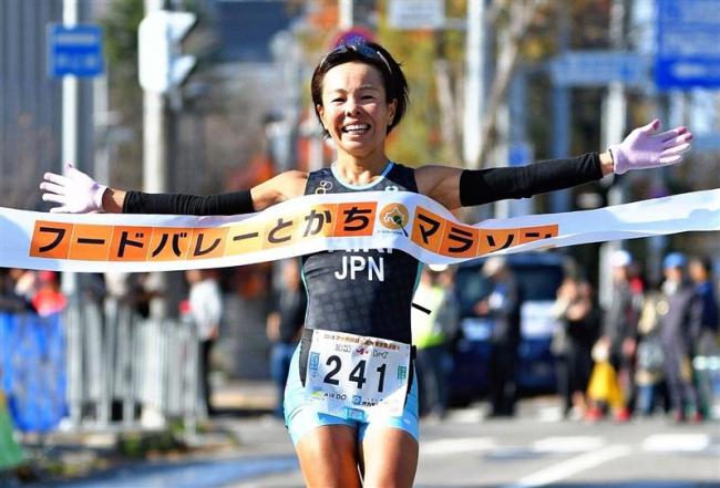 帯広出身の沢田愛里ハーフ女子総合V、フードバレーとかちマラソン