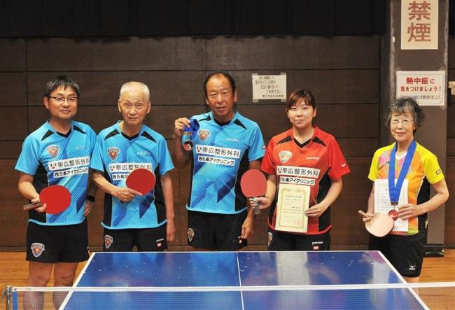 全日本卓球マスターズに十勝から5選手出場、大舞台で活躍誓う