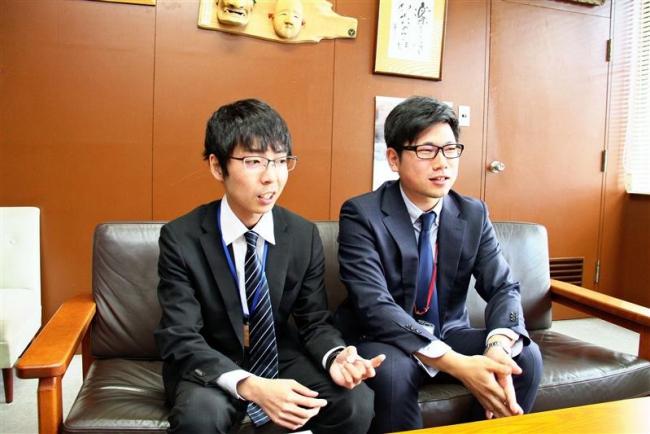 新得町職員の片桐さんと松田さん 台風被災地派遣から帰町