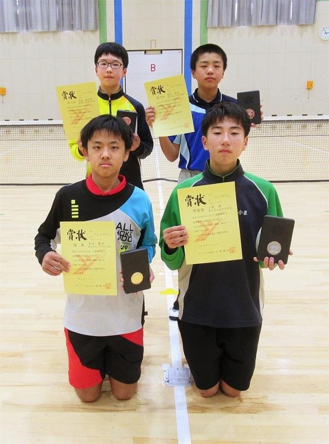 帯八千代男子は吉田、女子も猪股制す 全十勝中学生シングルスソフトテニス