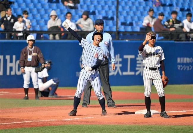 白樺学園神宮で歴史的初勝利、国士舘に4―3 明治神宮野球大会初戦