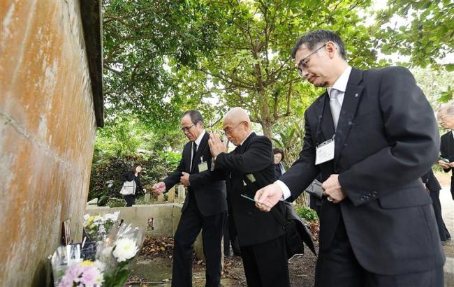 沖縄戦で亡き父へ「ご苦労さま」 十勝の遺族ら冥福祈る