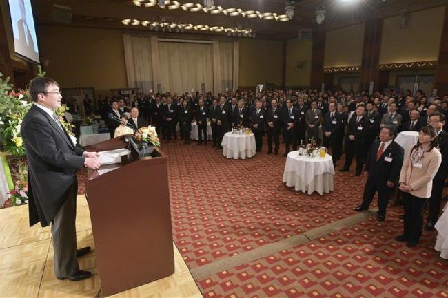 十勝毎日新聞社グループ年賀会「101年目も地域発展に貢献」誓う