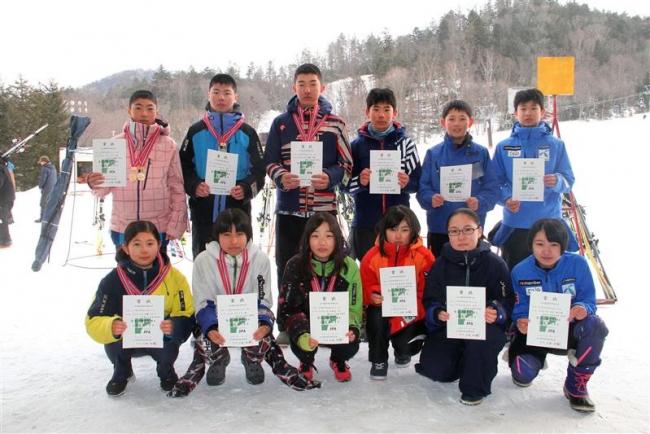 今村(帯緑園)と加藤(広尾)2冠 全十勝中体連スキー